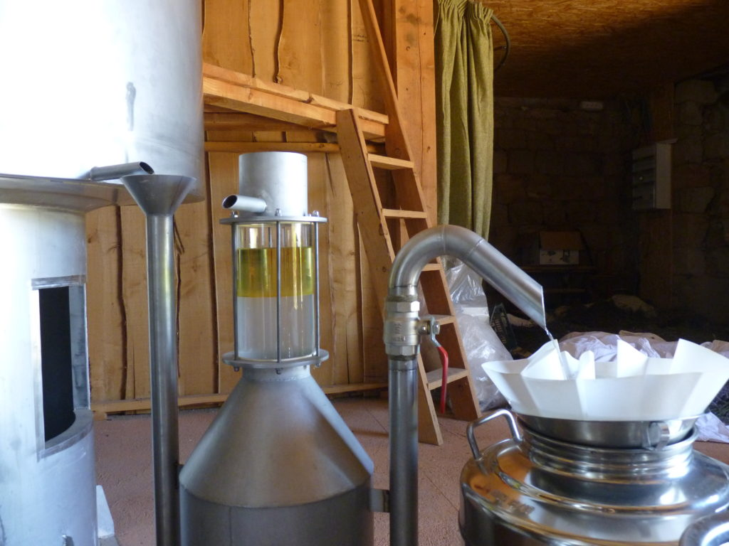 Filtration du distillat